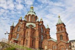 Orthodox church of Uspensky. Helsinki city center. Finland herit. Age landmark Stock Image
