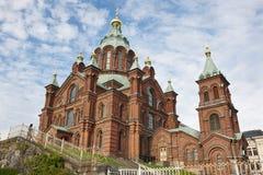 Orthodox church of Uspensky. Helsinki city center. Finland herit. Age landmark Stock Images