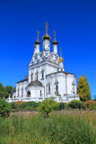 Orthodox church of Vera, Nadezhda, Lyubov and mother of their Sofia. BAGRATIONOVSK, RUSSIA - JULE 02, 2015: Orthodox church of Vera, Nadezhda, Lyubov and mother Royalty Free Stock Photography