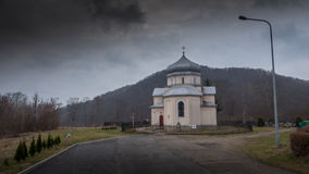 Orthodox church in village near Sanok. Orthodox church in village near Sanok Royalty Free Stock Photo