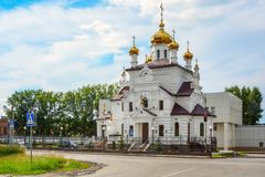 Yurga, the Orthodox Church Royalty Free Stock Photo