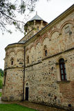 Orthodox church. Wall of old orthodox church in Serbia Royalty Free Stock Photo
