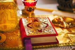 Orthodox church wedding ceremony. Bride Royalty Free Stock Photography