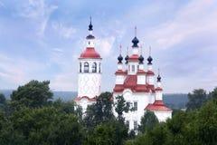 Orthodox Church white russian autmn Royalty Free Stock Photo