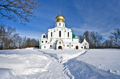 Orthodox church in winter Stock Image