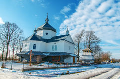 Orthodox church in winter Royalty Free Stock Images