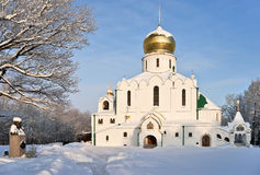 Orthodox church in winter day Stock Images