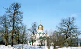 Orthodox church in winter day Stock Photo