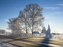 Orthodox church in winter Stock Photos