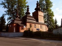 Orthodox Church in Wysowa 3. Beautiful orthodox church in the southern Polish Wysowa Royalty Free Stock Photos