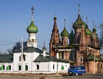 Orthodox church in Yaroslavl Royalty Free Stock Images