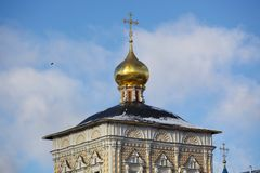 Orthodox churche in the Trinity Lavra St. Sergiu Stock Photos