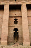 Orthodox churches carve in solid rock in Lalibela Royalty Free Stock Photos