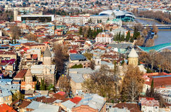 Orthodox churches in the old town of Tbilisi Royalty Free Stock Image