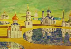 Orthodox churches Stock Images