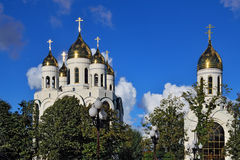 Orthodox churches in Victory square. Kaliningrad, Russia Royalty Free Stock Images