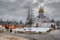 Orthodox churh (springtime) Stock Images