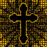 Orthodox cross-background Stock Photos