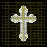 Orthodox cross - background Royalty Free Stock Image