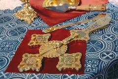 Orthodox cross in church Stock Photography