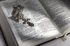 Orthodox cross on the developed book. Cross lies on the bible. An orthodox cross on the developed book Royalty Free Stock Images