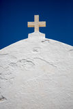 Orthodox Cross on the roof of the chuch. Stock Photography