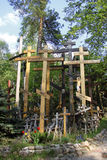 Orthodox crosses. Crosses at Holy Mount of Grabarka, Poland Stock Images