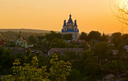 An Orthodox Curch at Sunset Stock Photography