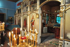 Orthodox divine Liturgy in the different churches of the city of Gomel in 2012 (Belarus). Stock Photography
