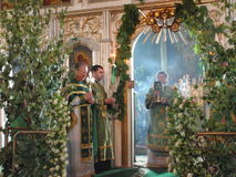 Orthodox divine Liturgy in the different churches of the city of Gomel in 2012 (Belarus). Royalty Free Stock Photography