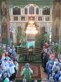 Orthodox divine Liturgy in the different churches of the city of Gomel in 2012 (Belarus). Stock Images