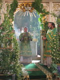 Orthodox divine Liturgy in the different churches of the city of Gomel in 2012 (Belarus). Stock Photos