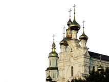 Orthodox Domes. Domes of an orthodox church on white background Royalty Free Stock Images
