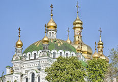 Orthodox domes with golden crosses Royalty Free Stock Images