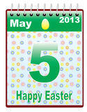 Orthodox Easter date Stock Image