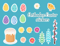 Orthodox easter stickers. Royalty Free Stock Photos