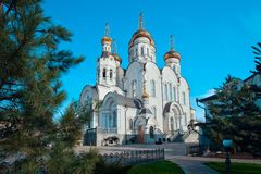 The Epiphany Cathedral  in Gorlovka, Ukraine. Orthodox Epiphany Cathedral in Gorlovka Ukraine Royalty Free Stock Photo