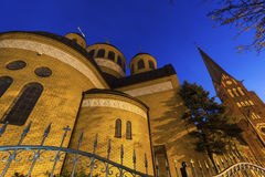 Orthodox and Evangelical Churches in Czestochowa Stock Photography