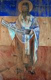 Orthodox fresco,Cyril of Alexandria Royalty Free Stock Photography