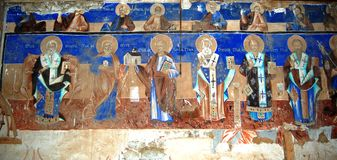 Orthodox frescoes Royalty Free Stock Images