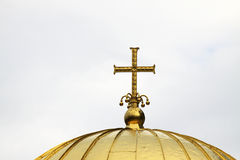 Orthodox gold cross Stock Image