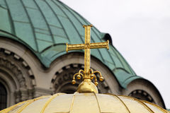 Orthodox gold cross Royalty Free Stock Images