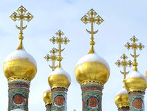 Orthodox golden crosses Royalty Free Stock Photo