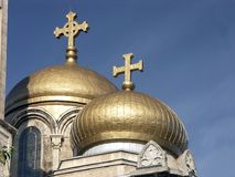 Orthodox Golden Domes Stock Photography