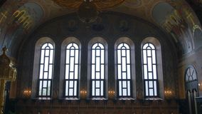 Orthodox Golden Iconostasis in the Orthodox Church stock video
