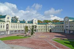 Orthodox gymnasium of the Kaliningrad diocese of ROC.  Stock Photo