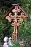 Orthodox houten kruis stock afbeeldingen