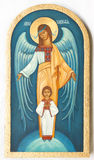 Orthodox icon. Traditional orthodox icon from medieval or renaissance times made in tempera on wood Stock Image