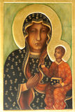 Orthodox icon. Traditional orthodox icon from medieval or renaissance times made in tempera on wood Royalty Free Stock Photos