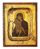 Orthodox  icon. Replica of old greek orthodox religious icon Royalty Free Stock Images